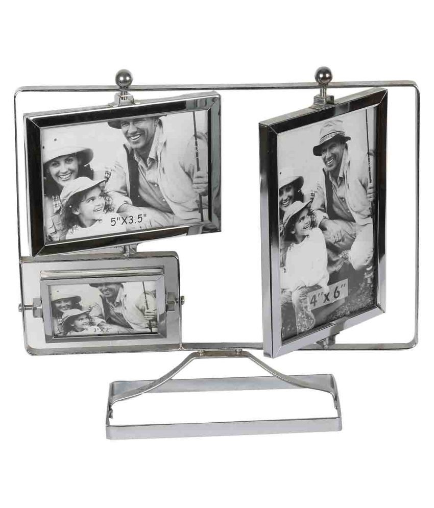Aica Glass TableTop Silver Collage Photo Frame: Buy Aica Glass ...