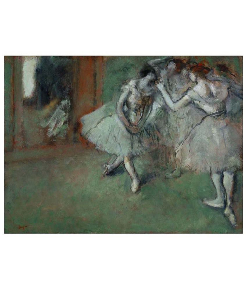 Tallenge Textured A Group of Dancers by Edgar Degas Canvas Art Print