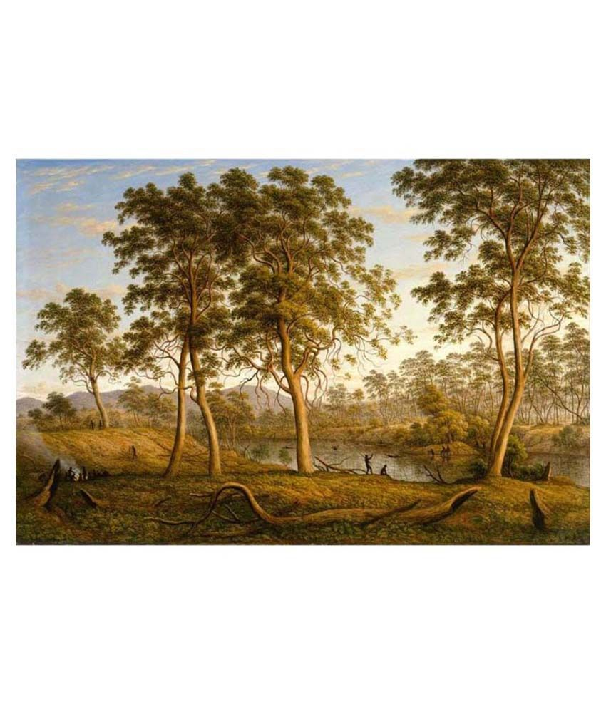 Tallenge Textured Natives on the Ouse River, Van Diemen's Land Canvas Art Print