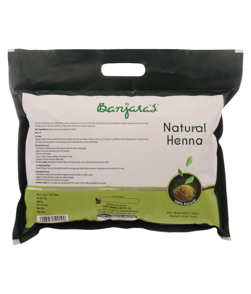 f7cfa8be5 Banjaras Natural Henna 1 kg: Buy Banjaras Natural Henna 1 kg at Best ...