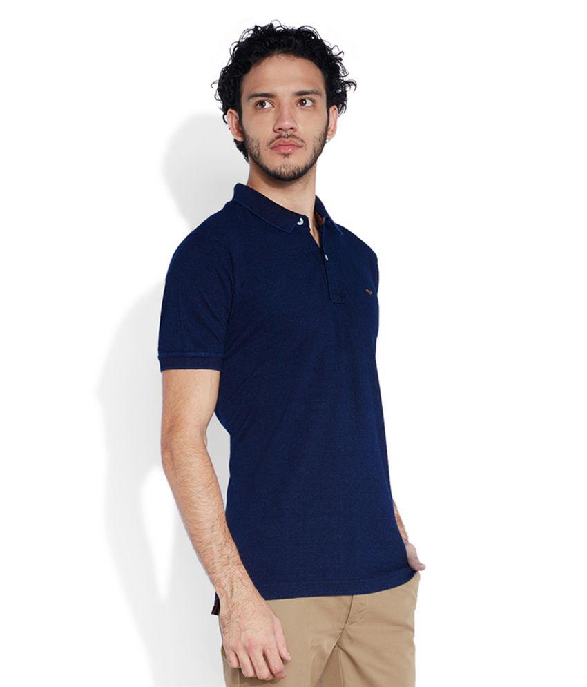 e3aa750f Park Avenue Blue Polo T Shirts - Buy Park Avenue Blue Polo T Shirts ...