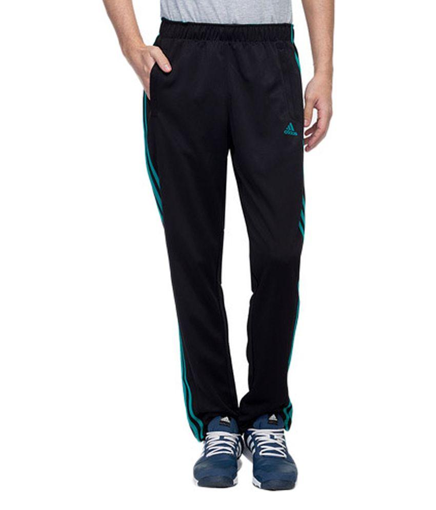Adidas Black Men's Polyester Track Pants