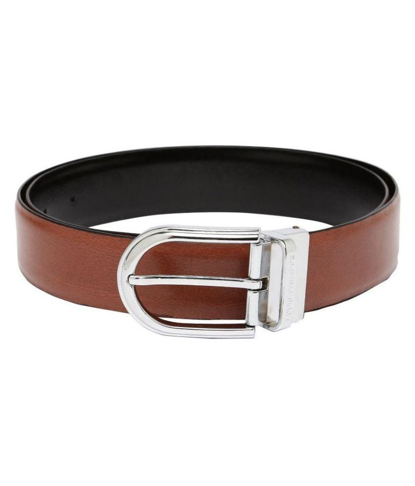 Louis Philippe Brown Reversible Leather Belt
