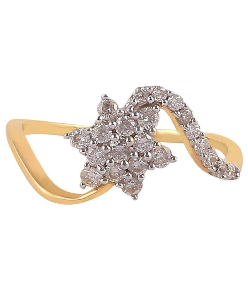 Jisha 18Kt BIS Hallmarked Gold Diamond Ring