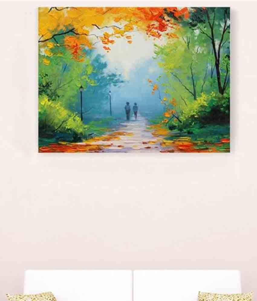 Sky Trends Forest In Couple Abstract Floral Canvas Painting