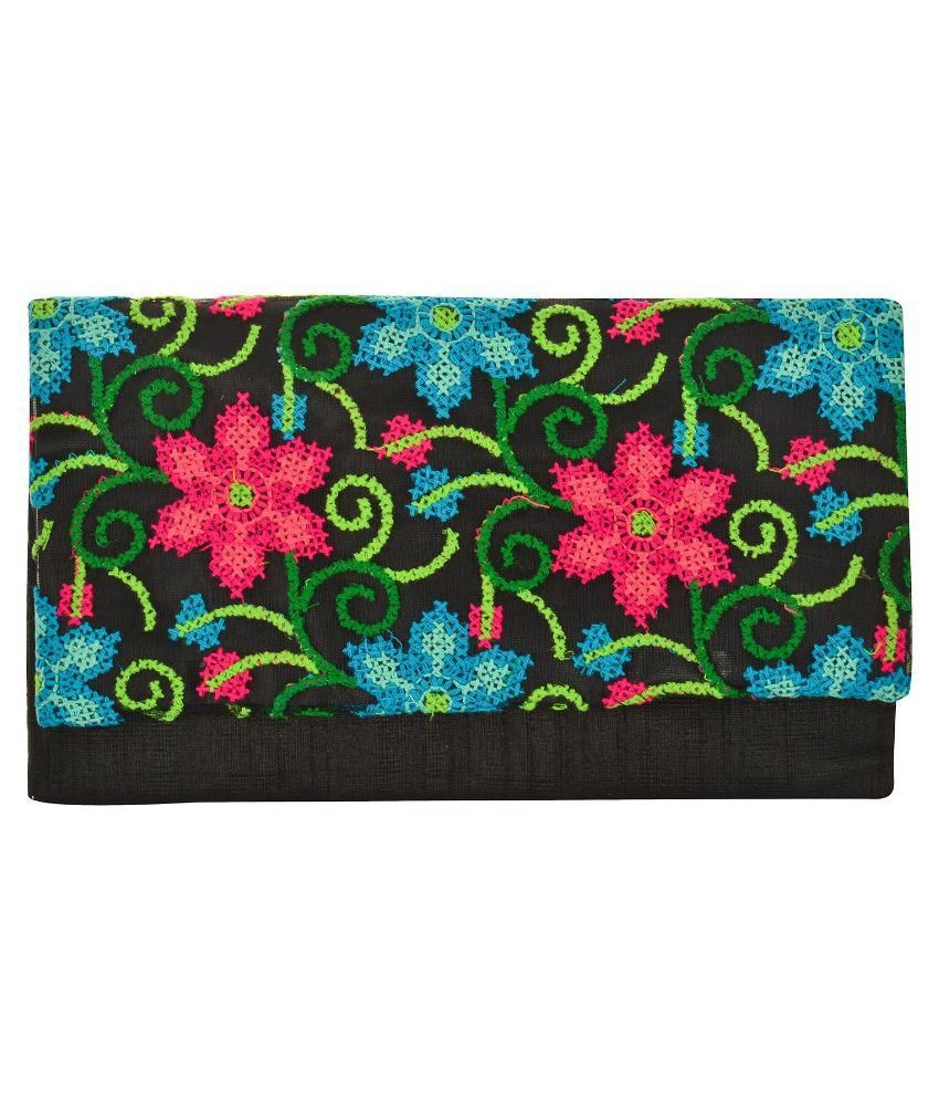 Arisha Kreation Multi Color Silk Clutch