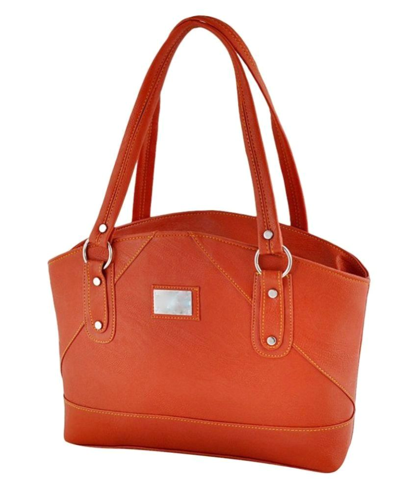 Smartways Orange Pure Leather Shoulder Bag - Buy Smartways Orange Pure  Leather Shoulder Bag Online at Best Prices in India on Snapdeal 1a52eb41023b5