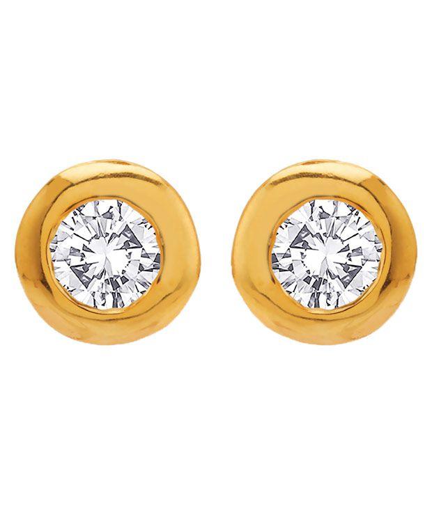 Voylla 92.5 BIS Hallmarked Silver Amber Studs
