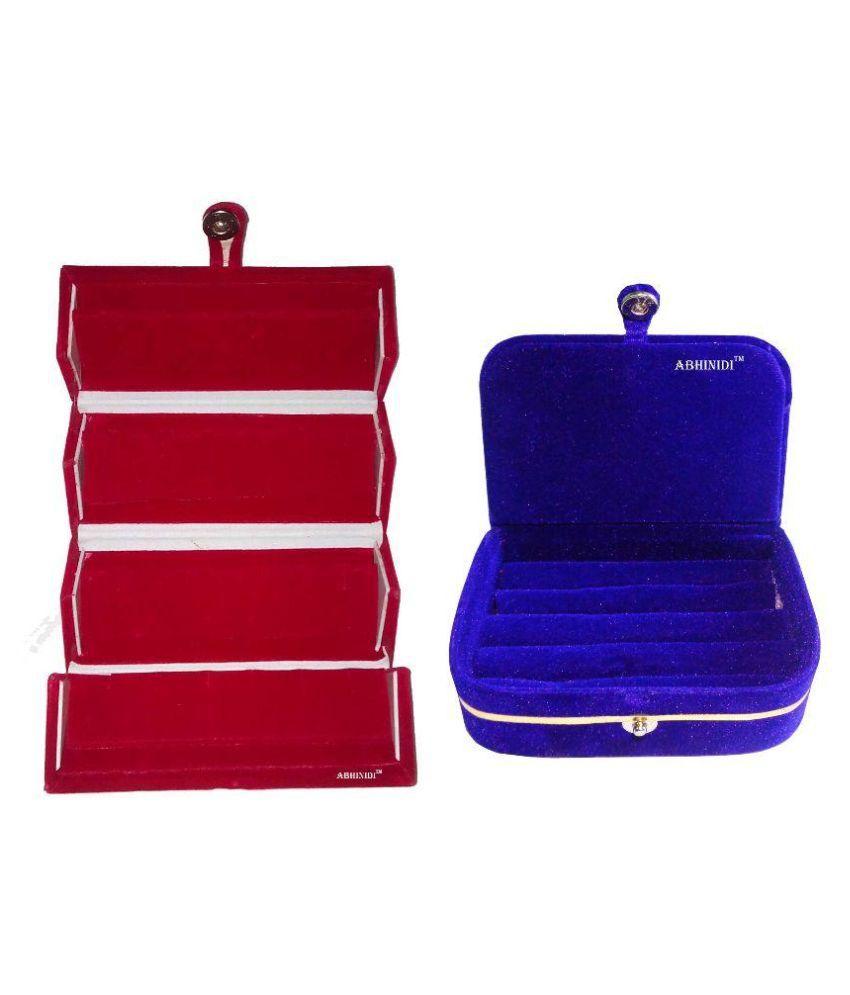 Abhinidi Multicolour Wooden Jewellery Box - Set of 2