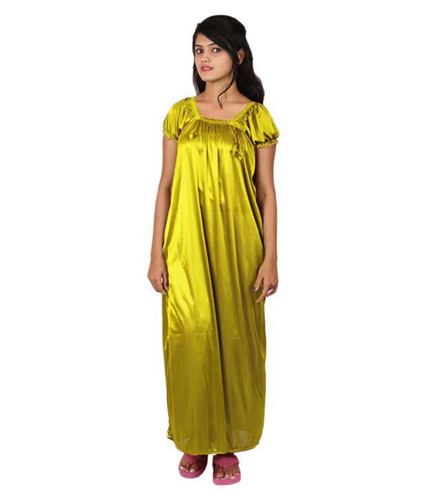 Gospel Yellow Satin Nighty & Night Gowns