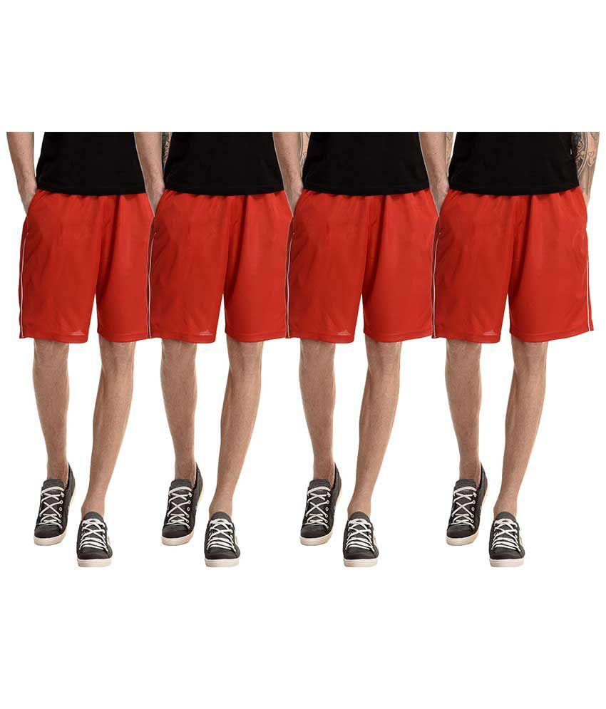 Dee Mannequin Red Shorts Pack of 4