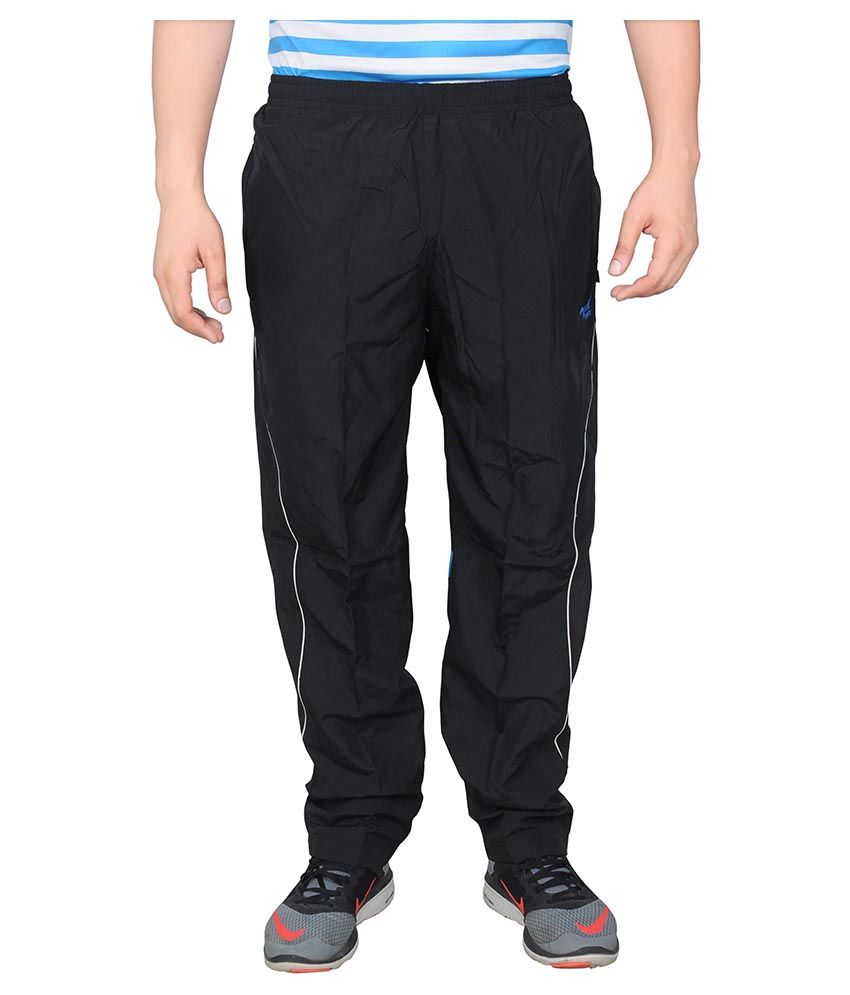 NNN Black Polyester Trackpant
