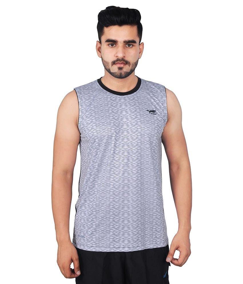 NNN Grey Polyester T Shirt