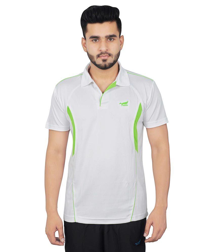 NNN White Polyester T Shirt