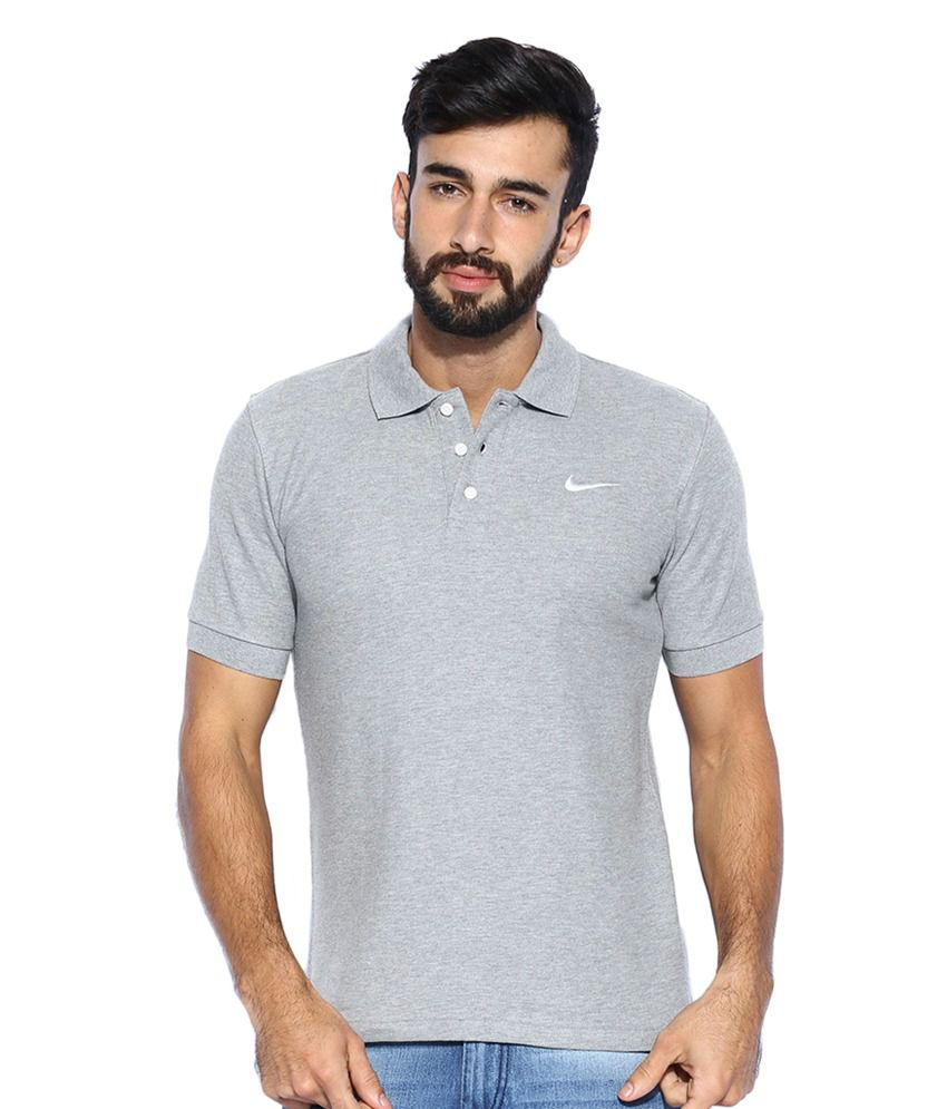 Nike Grey Melange Matchup Polo T-Shirt for Men