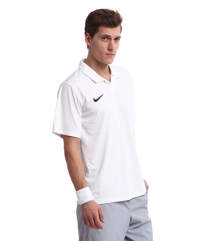 123409f4 Nike Off-White Test Polo Cricket T-Shirt for Men: Buy Online at Best ...
