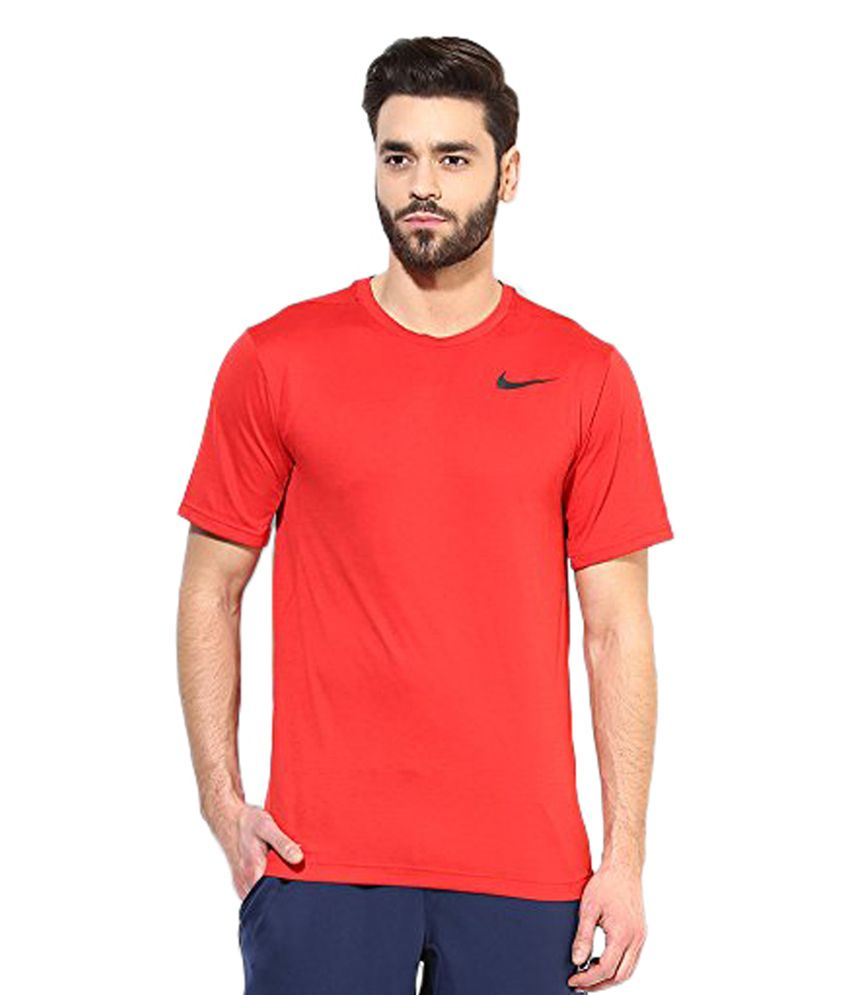 Nike Red DRI-FIT Training Top T-Shirt for Men