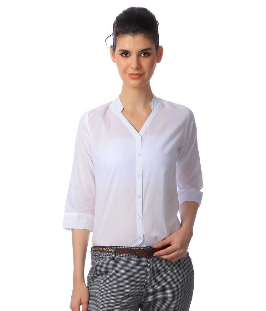 3e0bb035c62ce7 Buy Scorpius White Cotton Shirts Online at Best Prices in India - Snapdeal