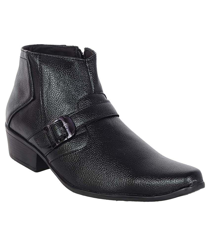 1Aarow Black Formal Boot