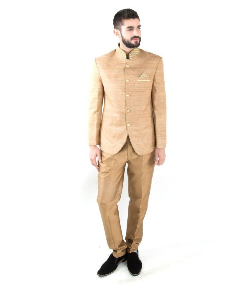 Jahanpanah Beige Party Suits