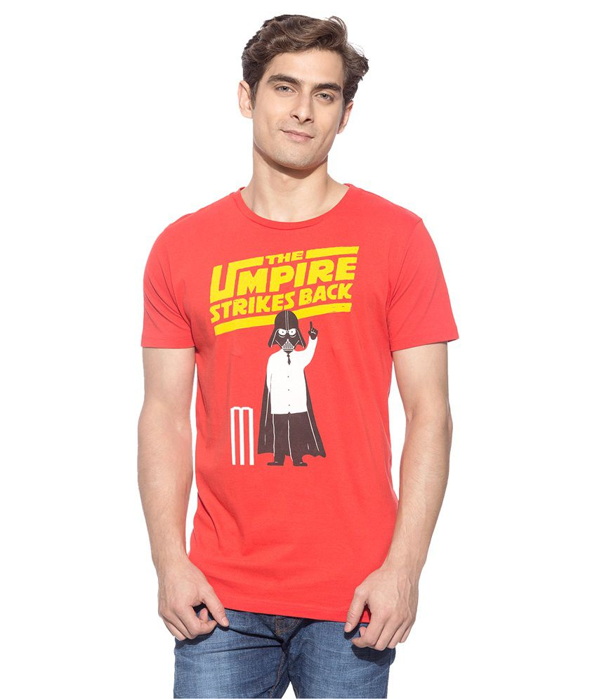 Chimp Red Round T-Shirt
