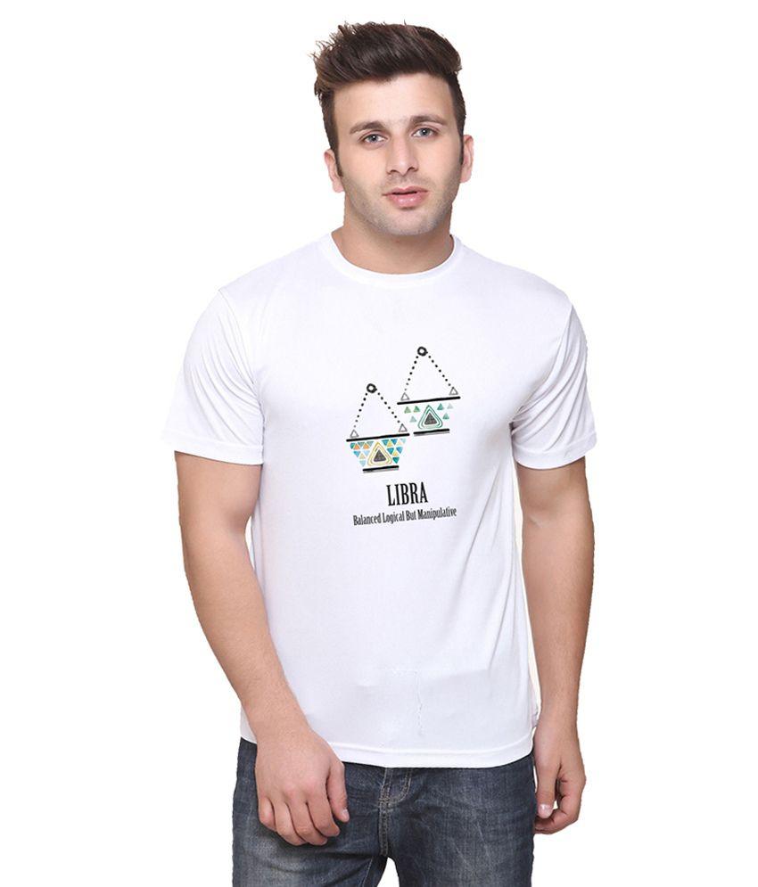 Oh Fish White Round T-Shirt