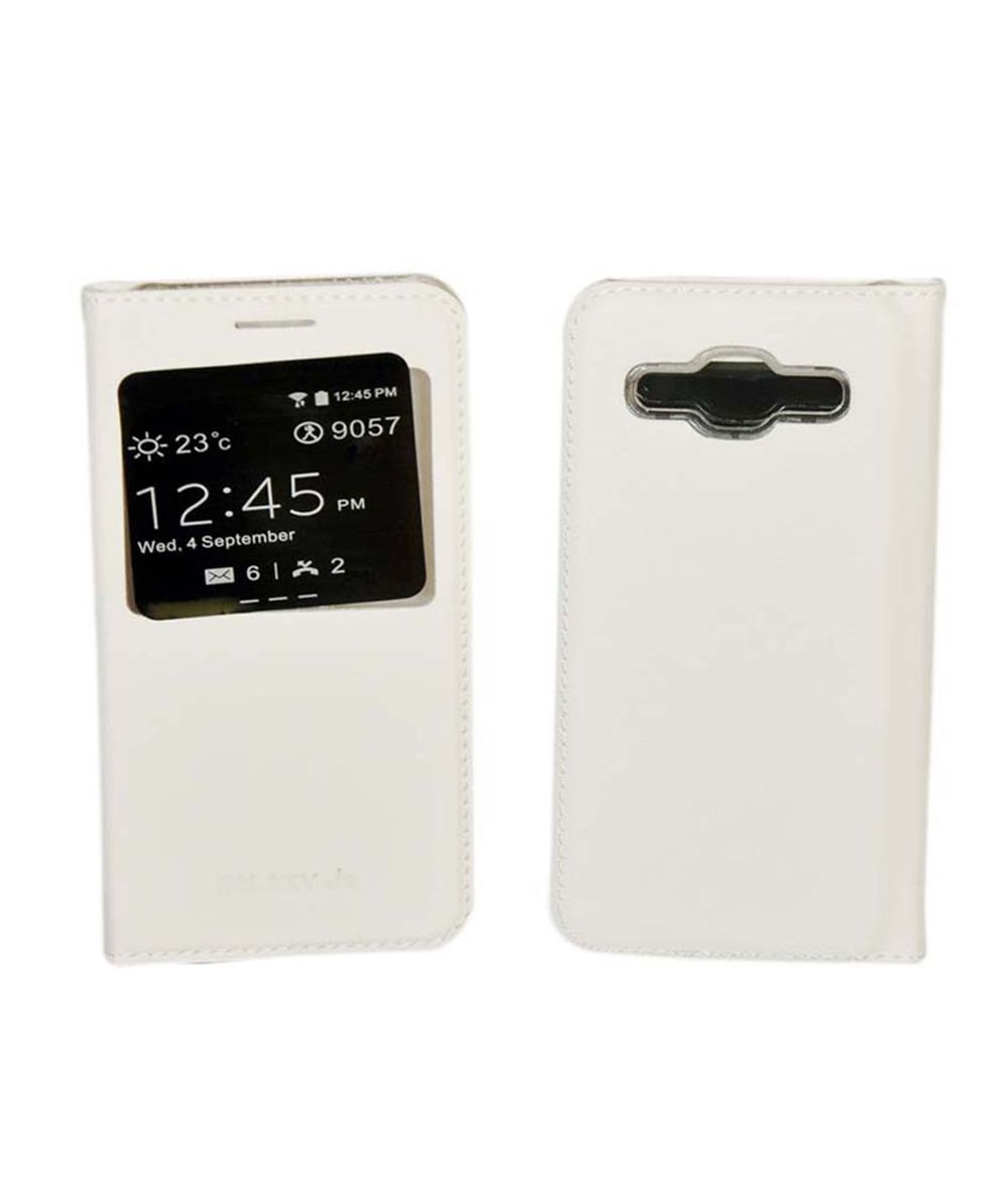 ea3607e4663 Samsung Galaxy j2 Flip Cover by FTS - White - Flip Covers Online at Low  Prices