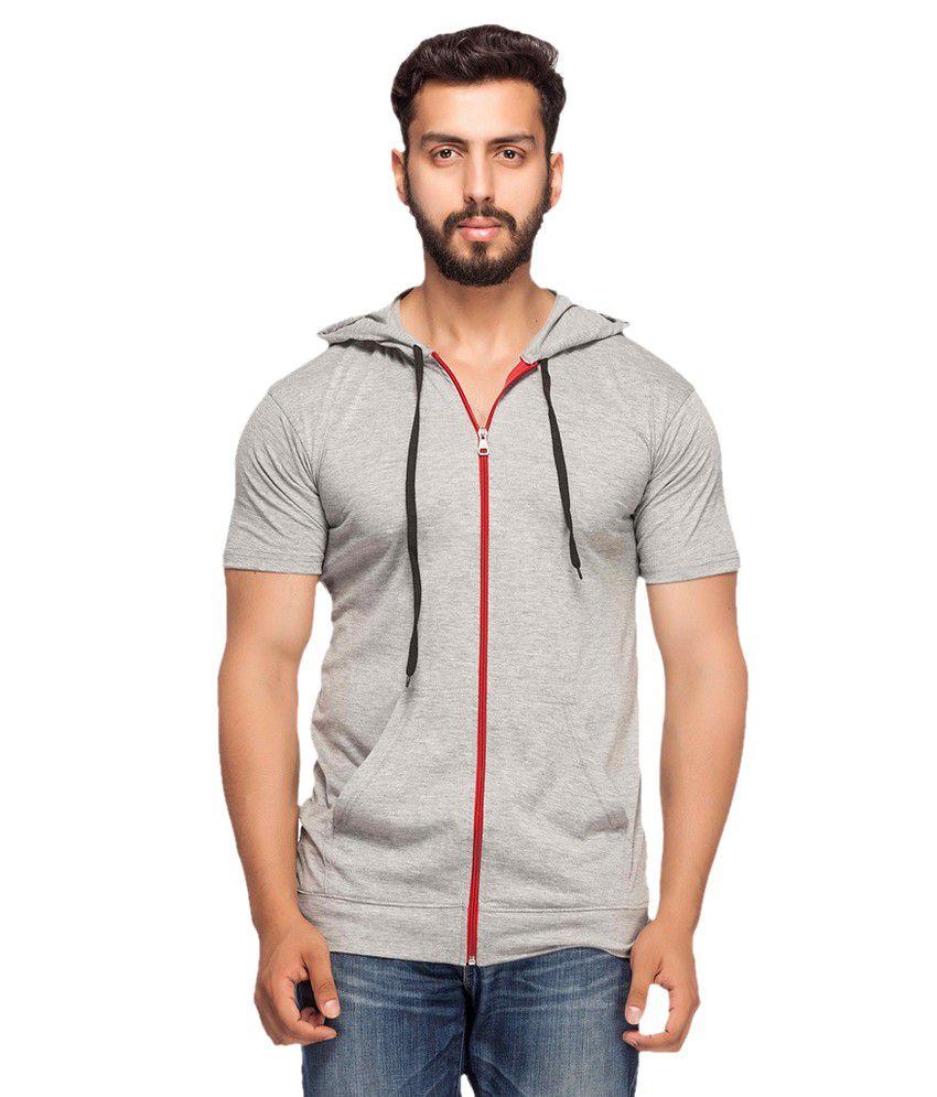 Demokrazy Grey Hooded T-Shirt