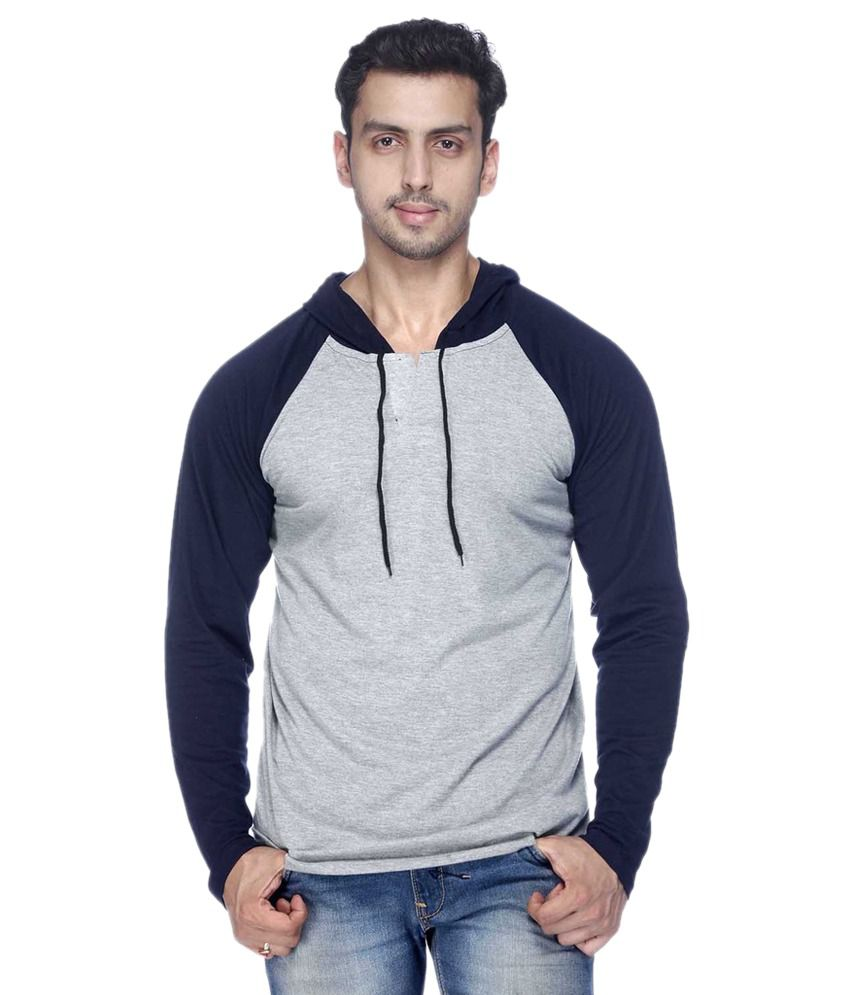Demokrazy Grey Hooded T-Shirt