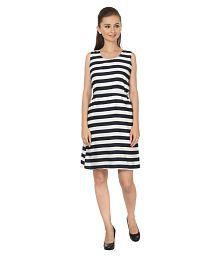 My Swag Crepe Multi Color A- line Dress