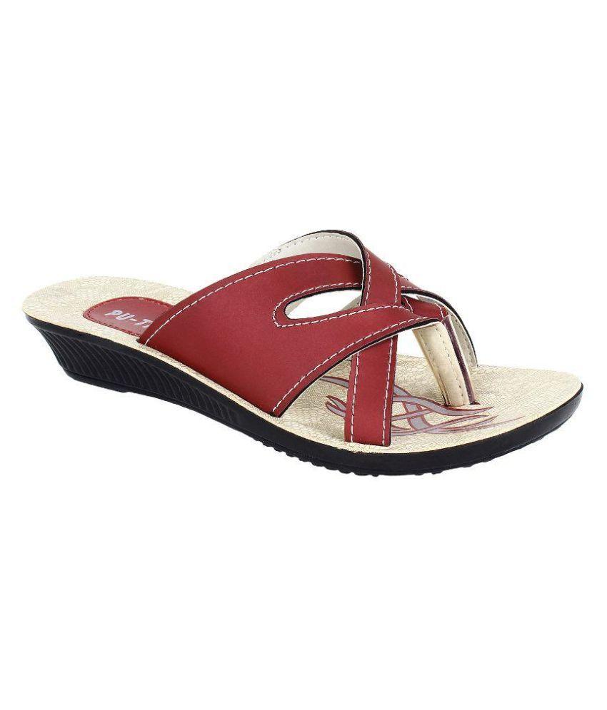 Bersache Red Wedges Heels