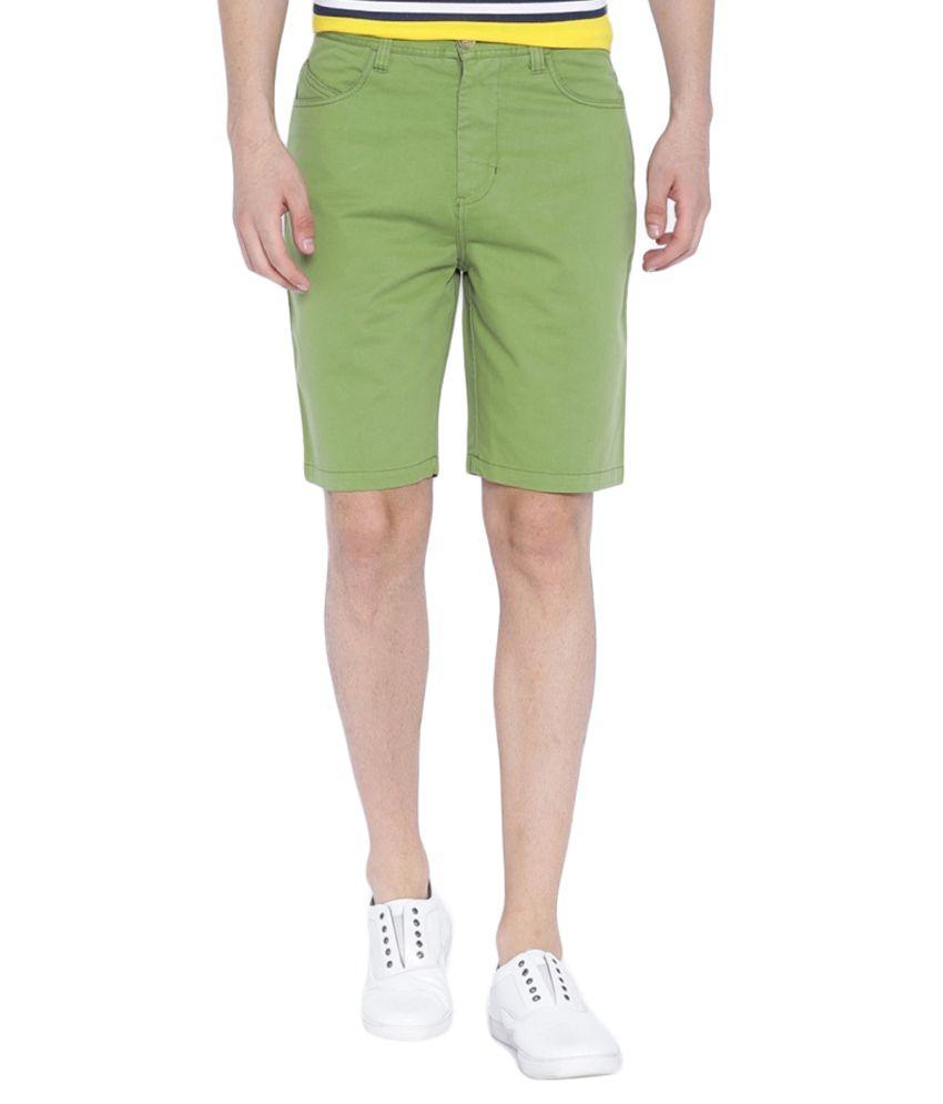Blue Wave Green Shorts