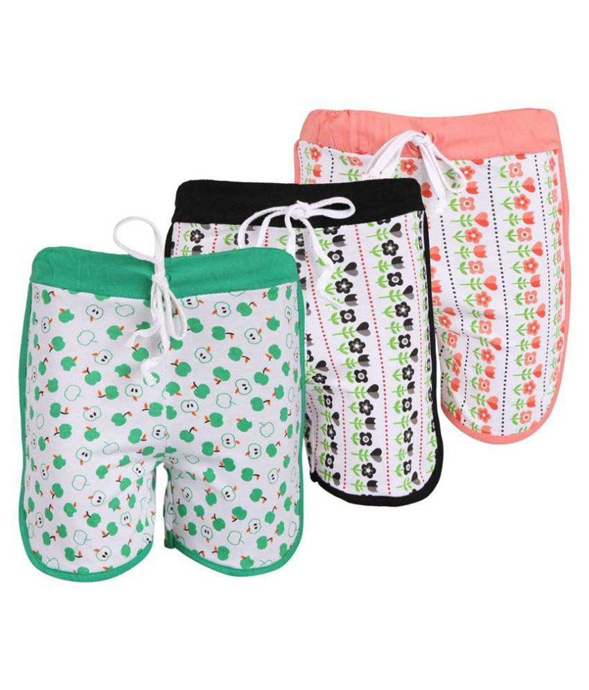 Weecare Multicolor Hot Pant for Girls - Pack of 3