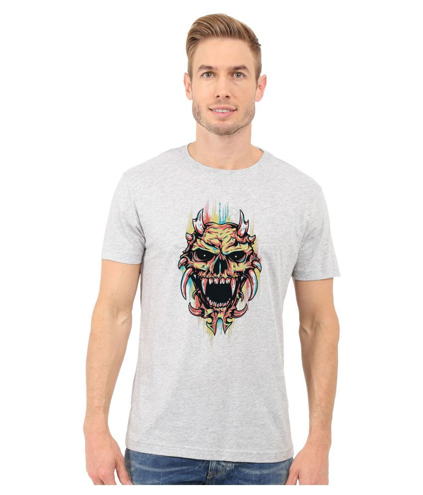 Redfool Fashions Grey Round T-Shirt