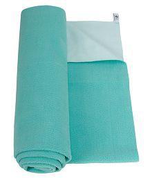 Mee Mee Green Cotton Solid Mattress ( 28 cm × 4 cm)