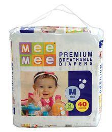 Mee Mee Premium Medium Size Diapers (40 Pcs)