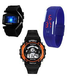 Gurukrupa Enterprises Multicolour Digital Watches - Pack of 3
