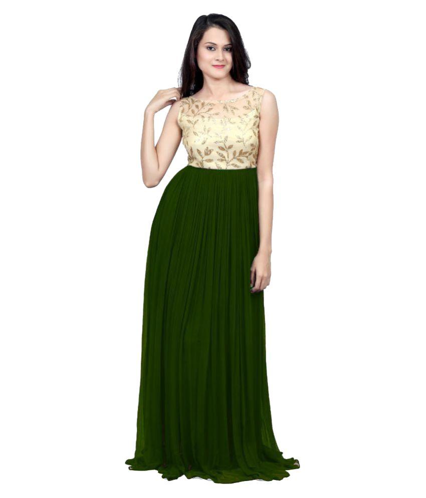 Choice Green Georgette A- line