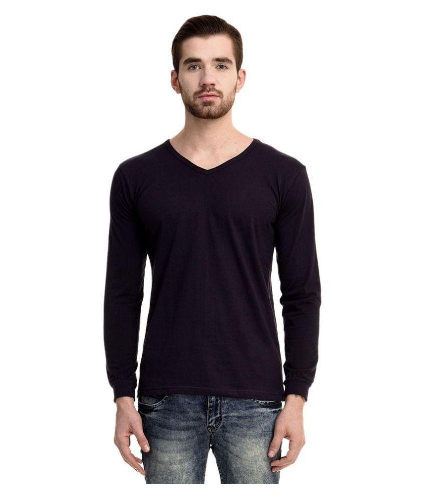 Mimoda Navy V-Neck T Shirt