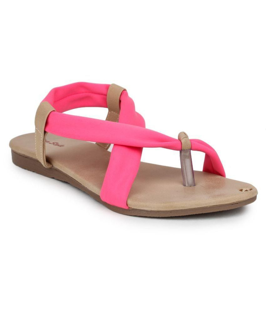Star Style Pink Flats