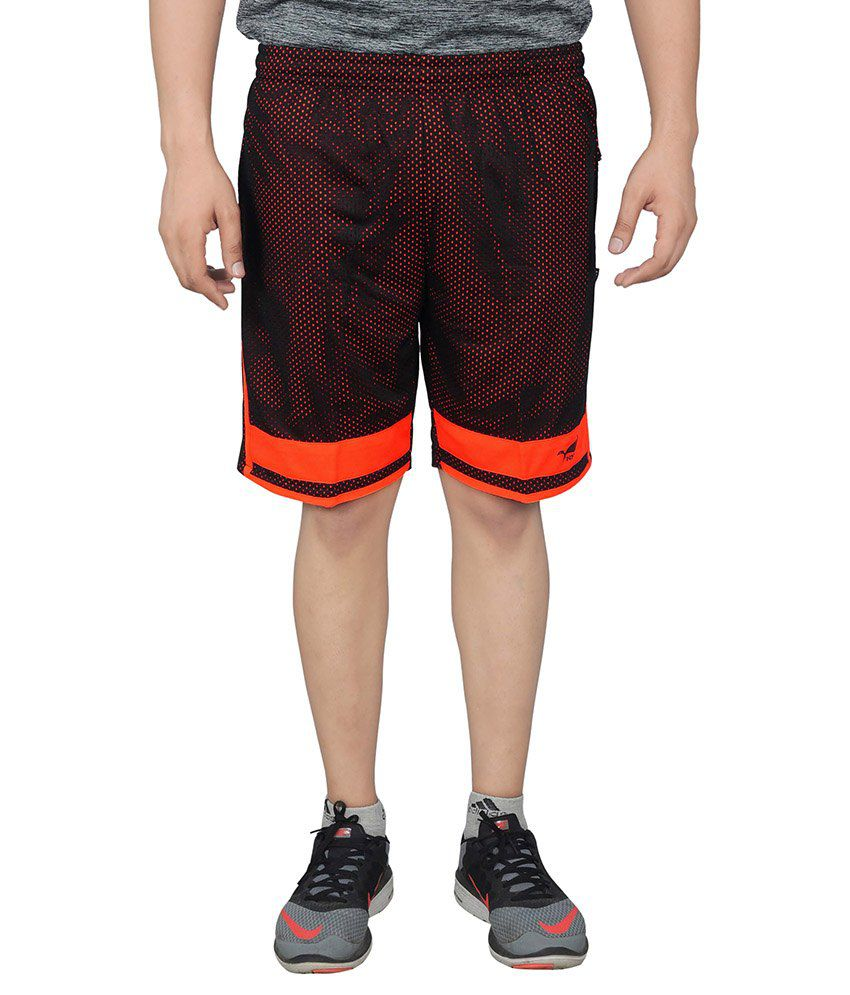 NNN Brown Polyester Sports Shorts