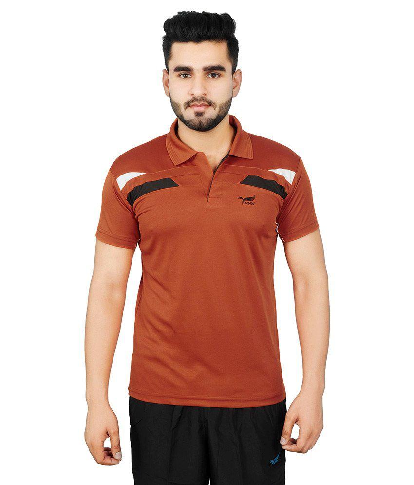 NNN Brown Polyester T-Shirt