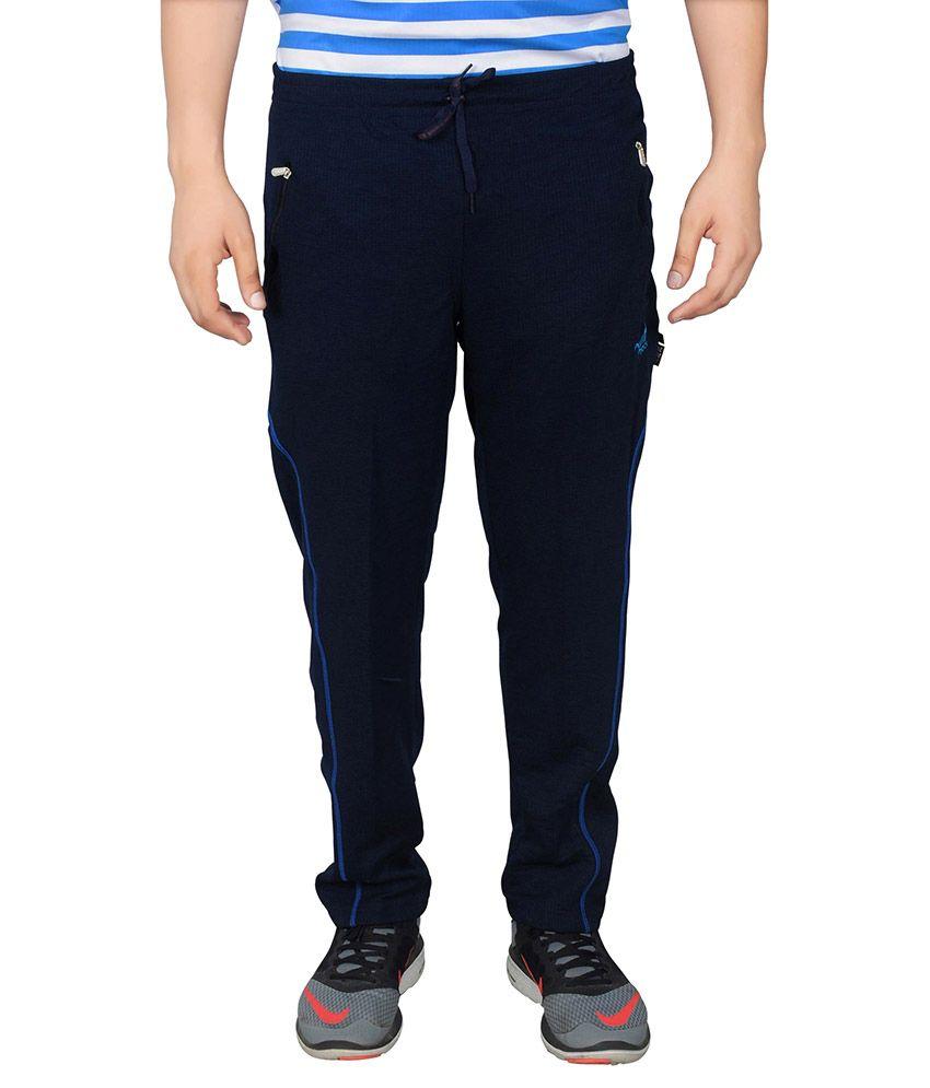 NNN Navy Blue Polyester Trackpant