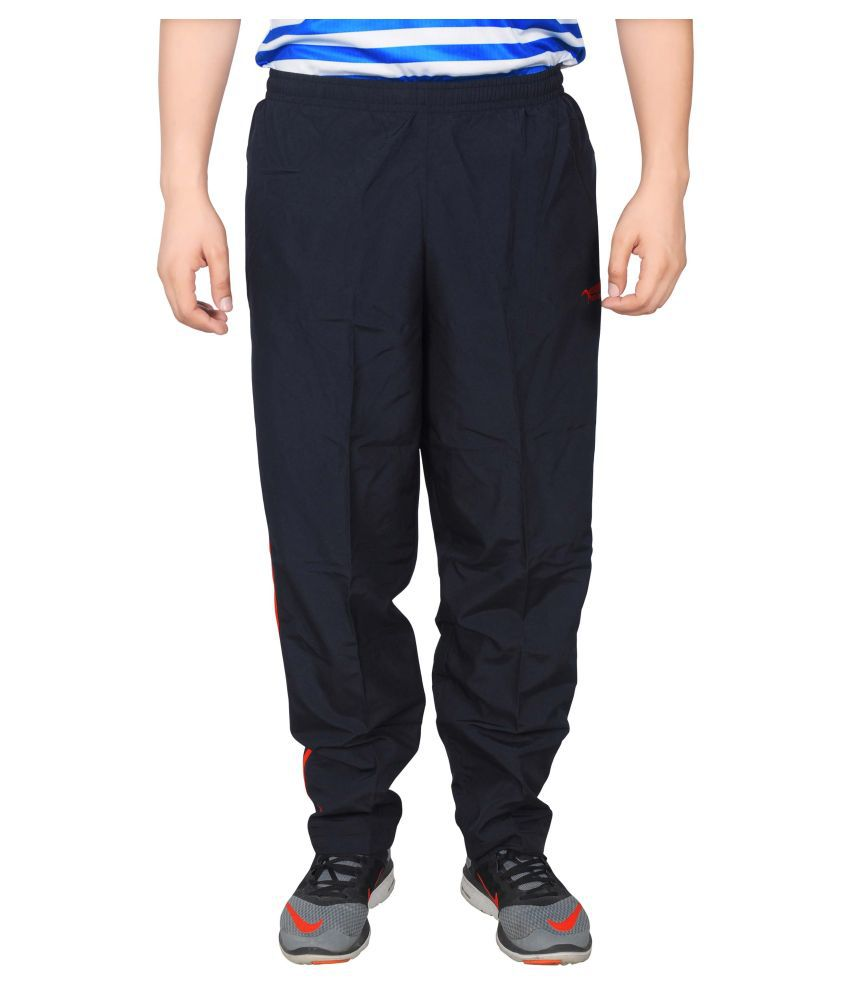 NNN Navy Blue Polyester Trackpant