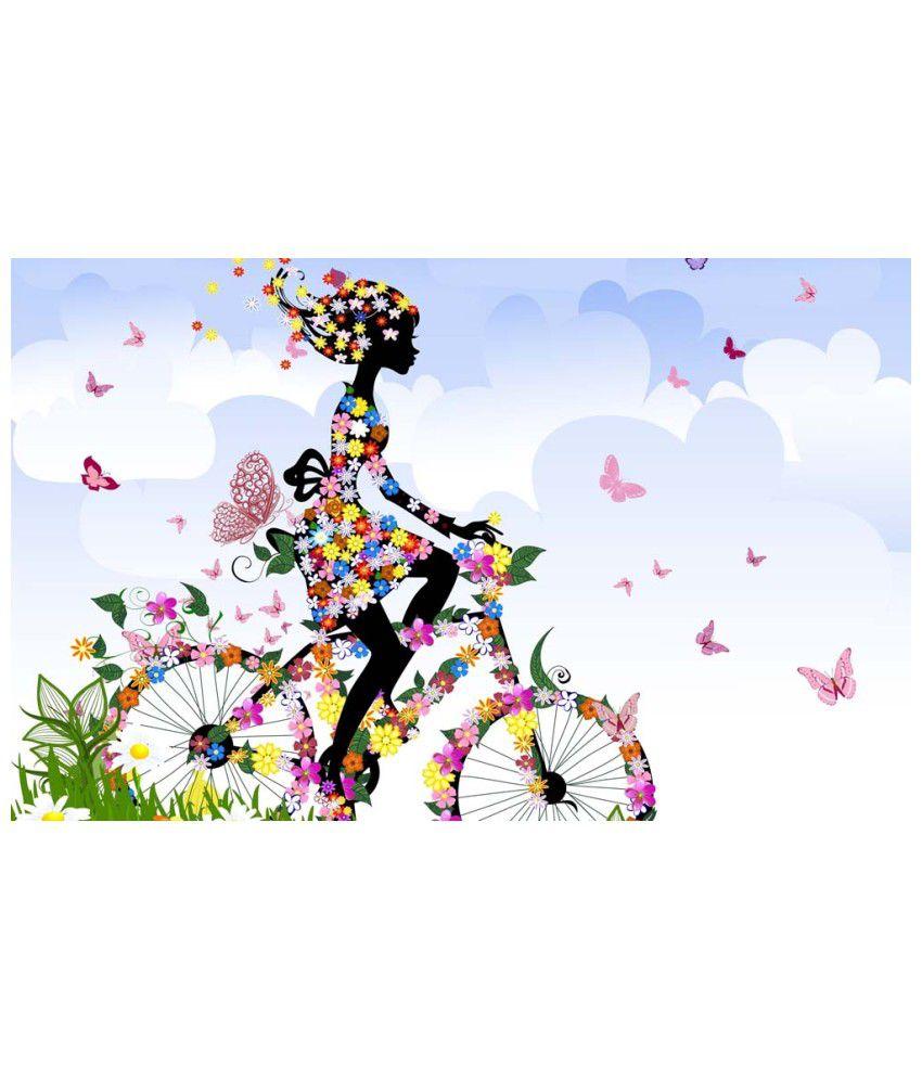 Tallenge Textured Butterfly Fairy Girl Canvas Art Print