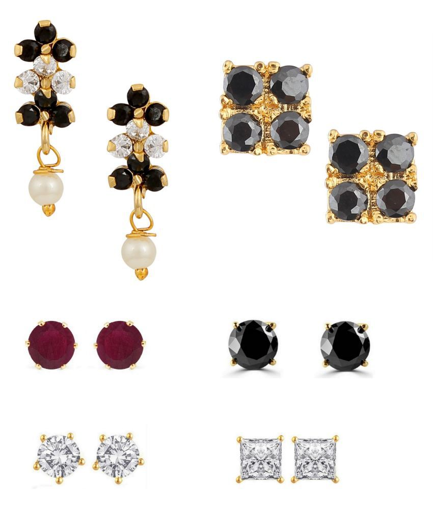 Archi Collection Multicolour Earrings - Set of 6