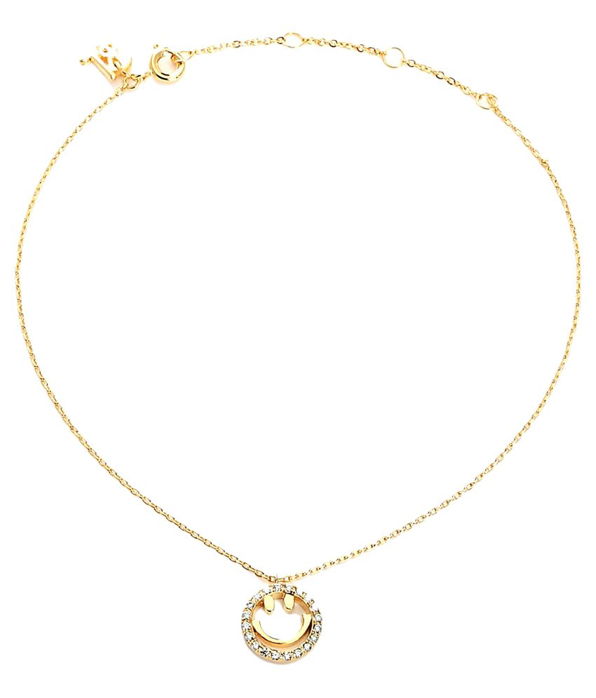 Blinglane Golden Single Anklet