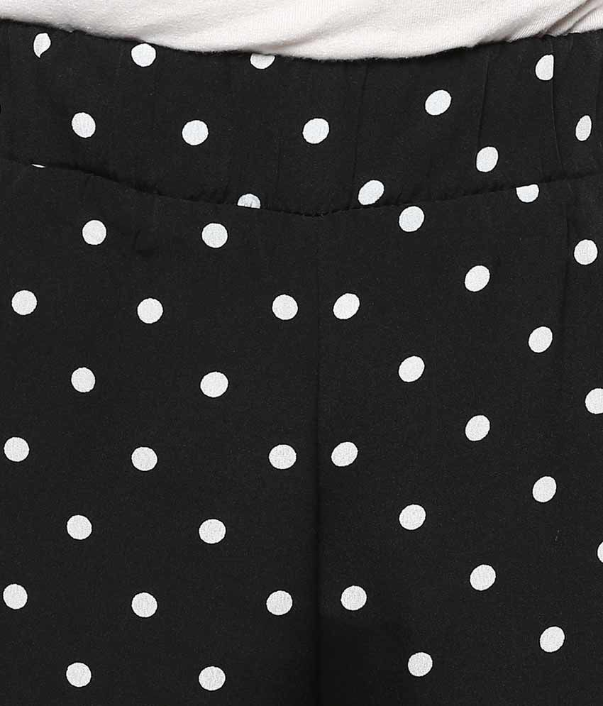 Buy Swagg Black White Polka Dot Palazzo Online At Best Prices In