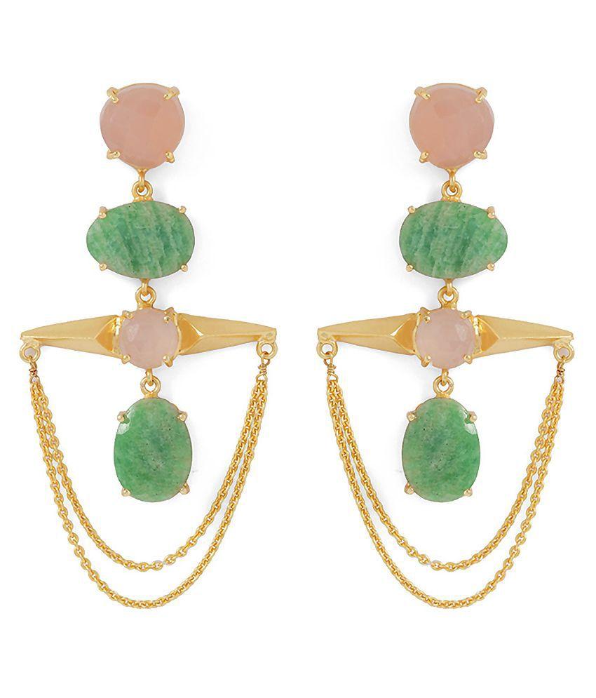 Voylla Multicolour Hanging Earrings