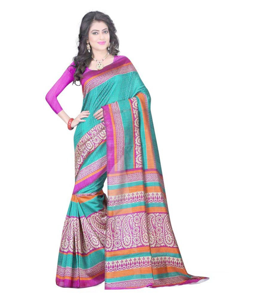 Winza Designer Multicoloured Bhagalpuri Silk Saree